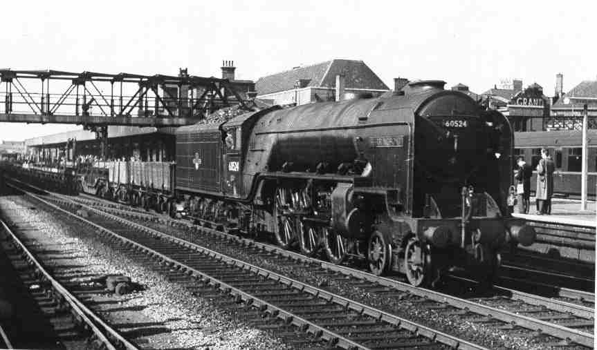 Home page doncaster station with class a23 60524 herringbone introduced 1946 development of thompson a22 publicscrutiny Choice Image
